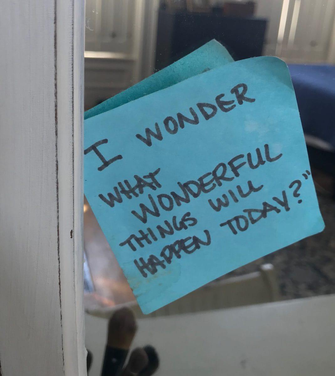 Wonderful things post-it
